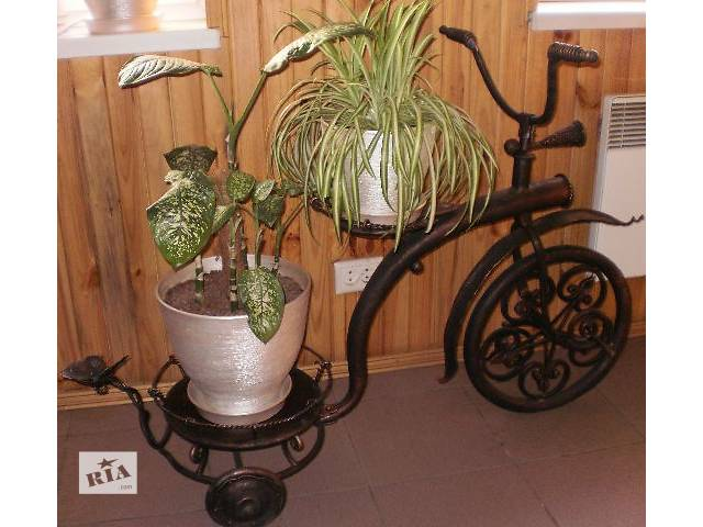 купить бу Оригинальная подставка под цветы «Кованый велосипед» в Житомире