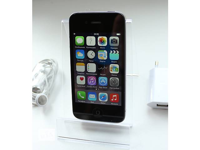 купить бу Оригинальный Apple iPhone 4S 16GB Черный Неверлок / Black Newerlock в Кременчуге