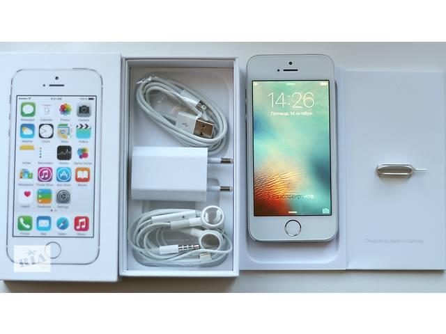 бу Оригинальный Apple iPhone 5S 32GB Серебрянный Неверлок, White Silver Newerlock в Кременчуге