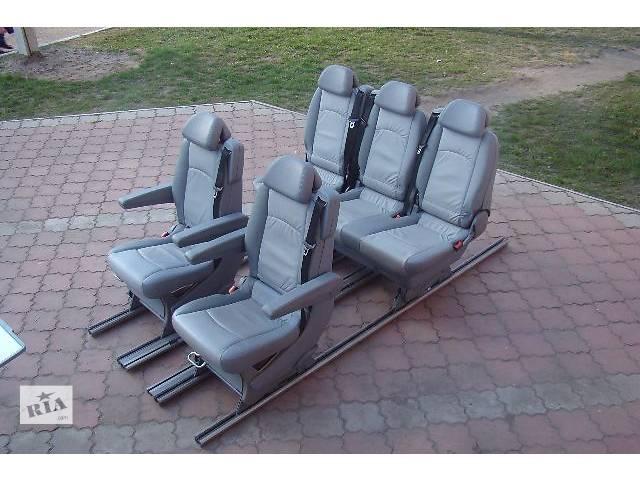 купить бу Оригинальный комплект сидений 2+2+3 или 2+2+2 в серой натуральной коже Mercedes Vito Viano Ambient w639.  в Ровно