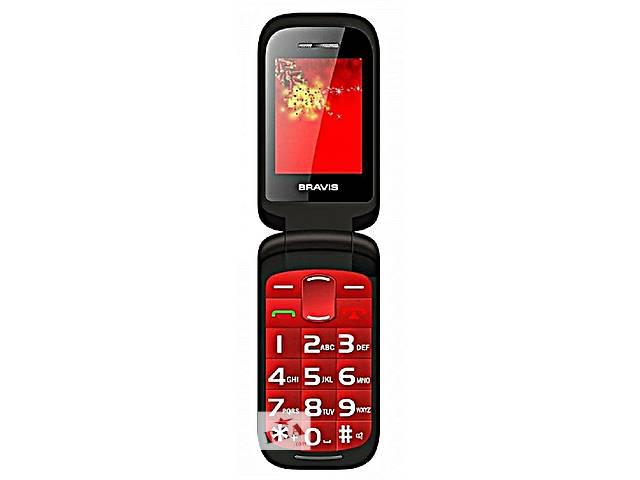 продам Оригинальный Телефон- Раскладушка Bravis.2сим.эк.2.2«Красный,Черный бу в Одессе