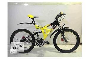 Отличный недорогой двухподвесный горный велосипед Azimut Shock-24 D для подростка. Shimano + диск тормоза