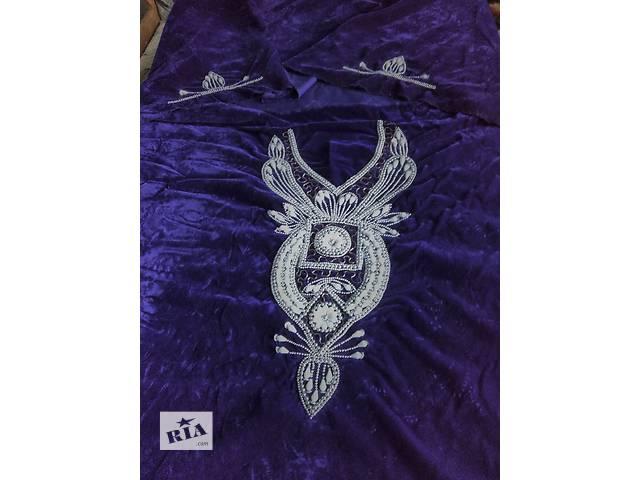 продам Отрез ткани на платье из арабской сказки бархат из ОАЭ  бу в Киеве