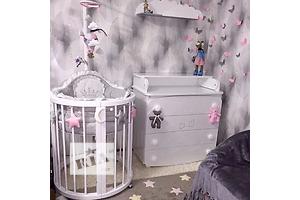 Овальная кроватка трансформер «Аngels Dreams» от производителя