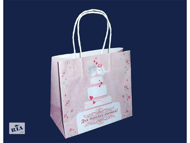 продам Пакеты для сладостей каравая, торта, шишек. Свадебные пакеты. Коробки для каравая. бу  в Украине