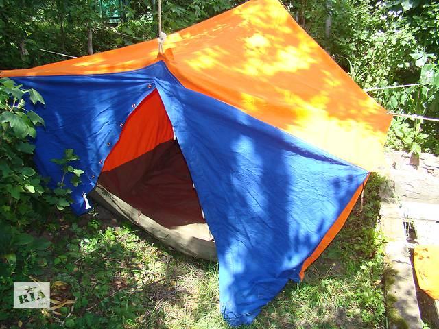 купить бу Палатка двухместная из натуральной палаточной ткани. в Львове