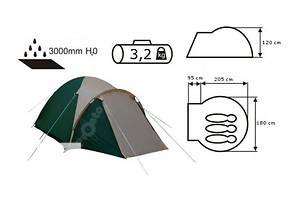 Палатка Presto ACCO 3 клеенные швы тамбур