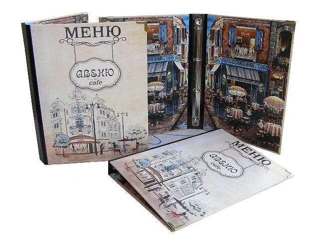 купить бу Папки для меню, счетницы из кожи, кожзама, ткани, изготовление под заказ Киев (Украина)  в Украине