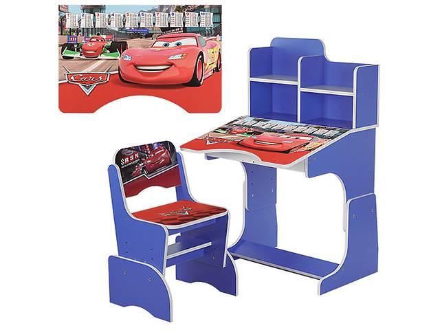 купить бу Парта растишка W 2071-2-3 Тачки, со стульчиком, синяя в Одессе