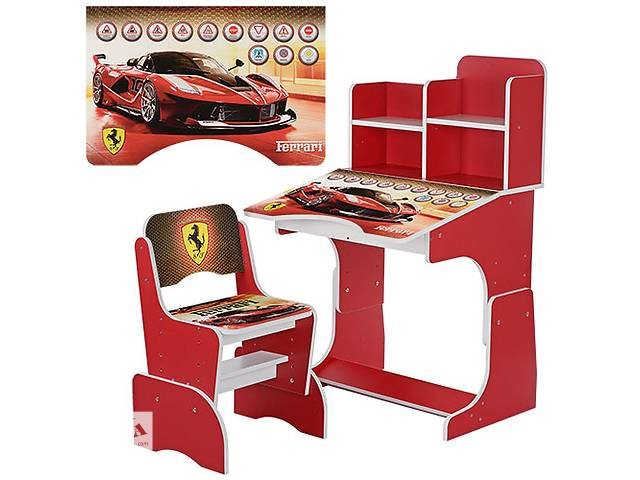 купить бу Парта растишка W 2071-20 Ferrari, со стульчиком, красная  в Одессе