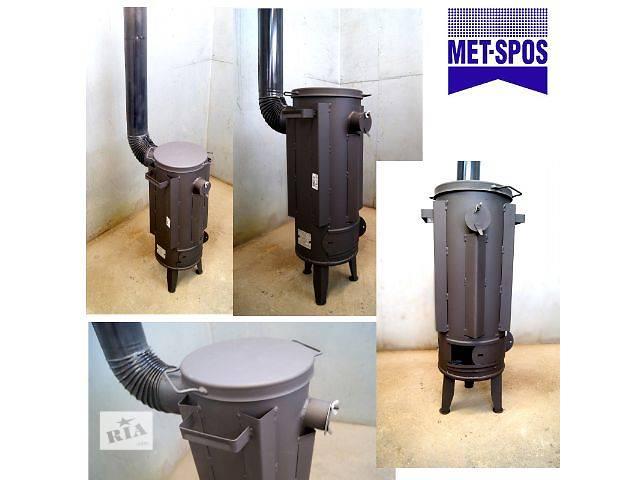 купить бу Печь буржуйка стальная Met-Spos 35м2 + совок 3,5 кВт в Тернополе