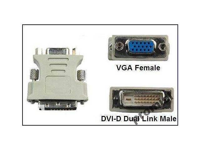 бу Переходник DVI-VGA, 24+1, с видеокарты на монитор. Новый. в Полтаве