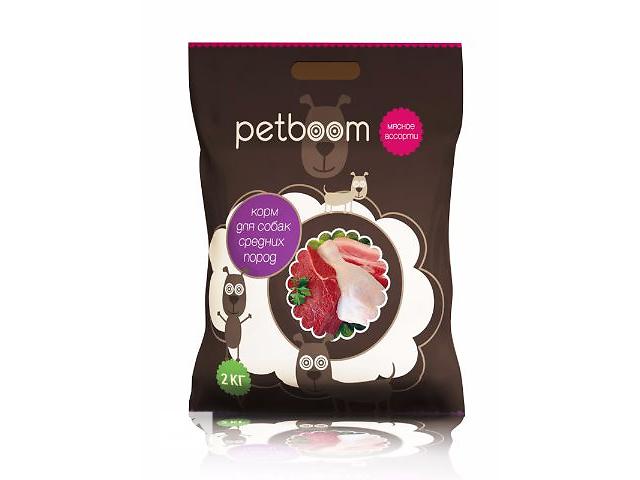 Petboom ( Питбум ) Корм сухой для взрослых собак средних пород мясное ассорти 10кг- объявление о продаже  в Киеве