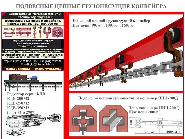 бу Подвесной цепной вантажоенсучий конвейер в Львове