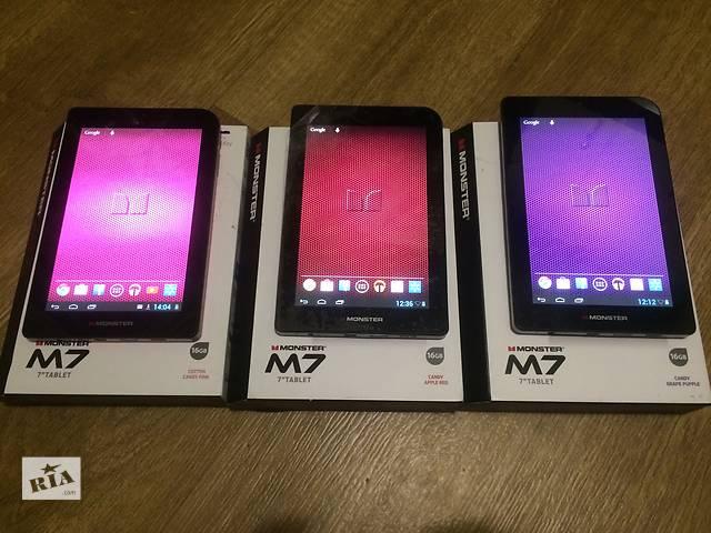 купить бу Планшет Monster M7 16гб 1гб озу HDMI GPS Экран IPS 7 полный комплект 3 цвета в Киеве