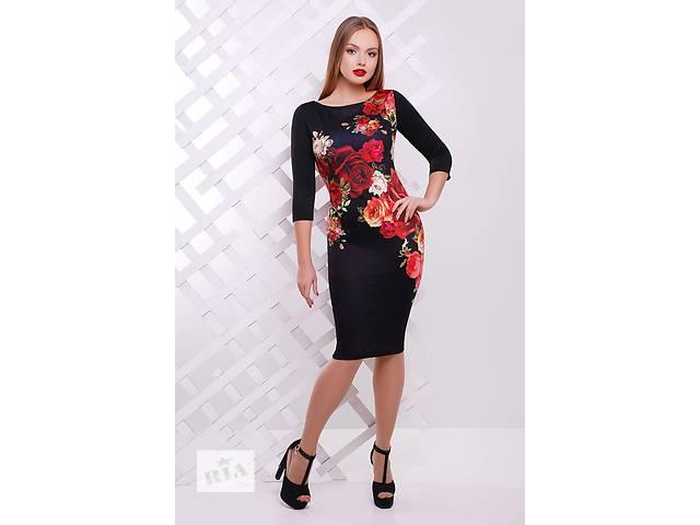 Платье - чёрное с цветочным  принтом. Есть много красивых моделей.- объявление о продаже  в Одессе