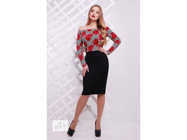 бу Платье комбинированное с открытыми плечами. Есть много красивых моделей. в Одессе