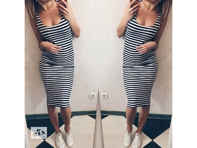 Фото платье майка в полоску