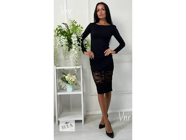 купить бу Платье миди с гипюровой вставкой в Прилуках