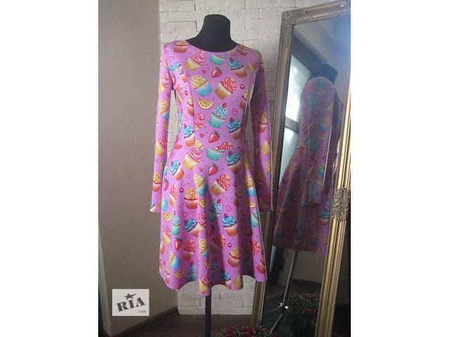купить бу Платье необычное яркое розовое с пироженкой новое в Николаеве