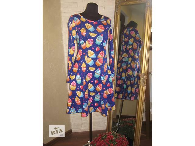 купить бу Платье необычное яркое с пироженкой синее новое в Николаеве