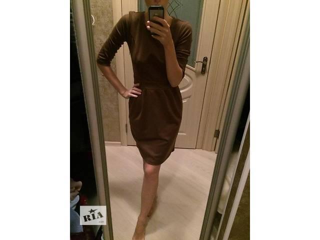 Платье осень-зима,шоколад- объявление о продаже  в Броварах