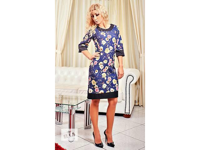 Платье с цветами сакурой есть большой размер- объявление о продаже  в Хмельницком