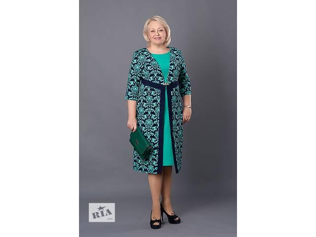 Платье с узором в большом размере 52-60- объявление о продаже  в Хмельницком
