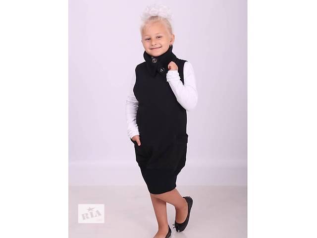 бу Платье сарафан модный для школы  5,6,7,8,9,10,11,12 лет. в Мариуполе