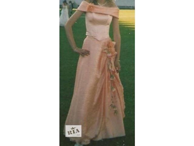 Плаття випускне персикове з кольцами- объявление о продаже  в Тернополе