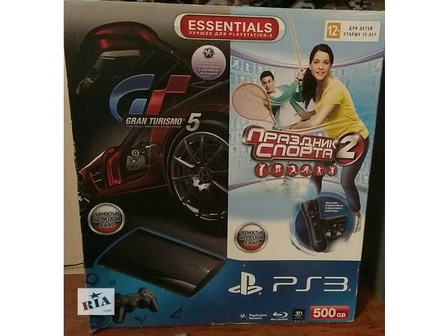 Playstation 3 Super Slim GT5, Праздник Спорта 2, Move Starter Pack- объявление о продаже  в Киеве