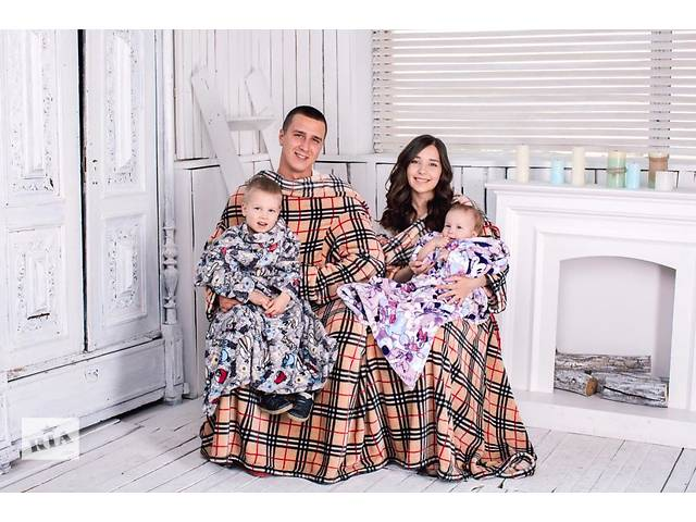 купить бу Пледы с рукавами для всей семьи - лучший подарок на Новый Год в Киеве