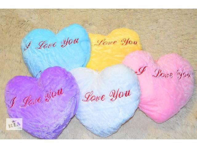 купить бу Плюшевые светящиеся подушки в виде сердца, романтический подарок в Кривом Роге (Днепропетровской обл.)