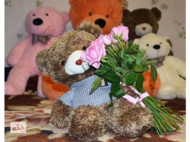 продам Плюшевый мишка в свитере 60 см (медведь 0,6 метра) бу в Кривом Роге (Днепропетровской обл.)