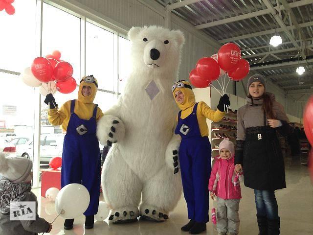 продам Пневмокостюм надувной белый медведь для промо (BTL) акций с аниматором бу  в Украине