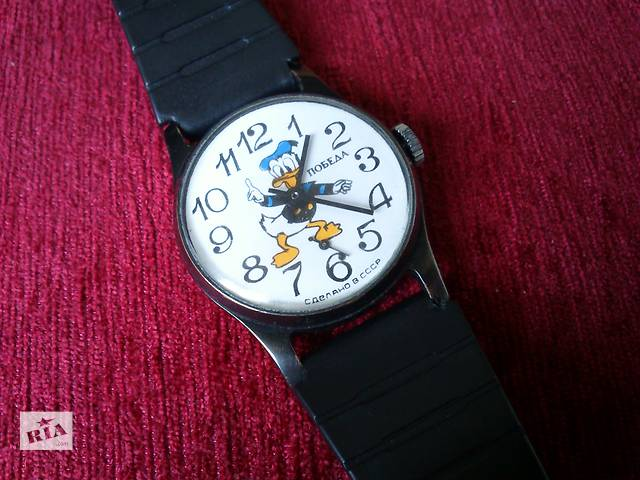 бу Победа часы Дональд Дак Donald Duck Disney механические наручные ссср в Запорожье
