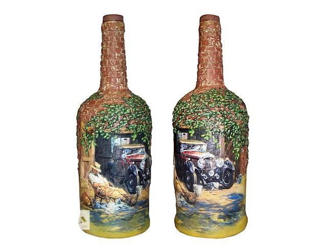"""купить бу Подарочное оформление бутылки """"Послеобеденный отдых"""", стильный подарок на день автомобилиста. в Мариуполе"""