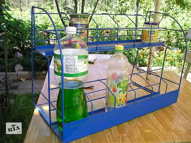 продам Подставка металлическая для бутылок банок бу в Белой Церкви