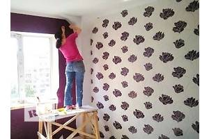 Wallpapering and wallpaper work