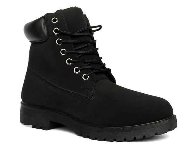 купить бу Полностью черные мужские ботинки в стиле Timberland. в Днепре (Днепропетровск)