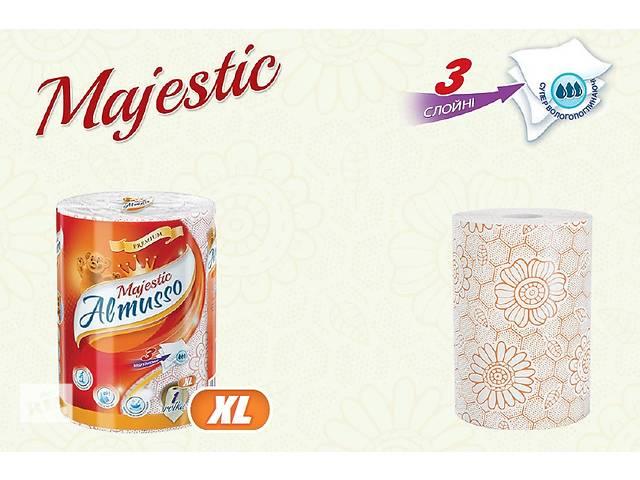 купить бу Полотенца бумажные трехслойные Almusso Majestic Польша оптом в розницу в Нововолынске