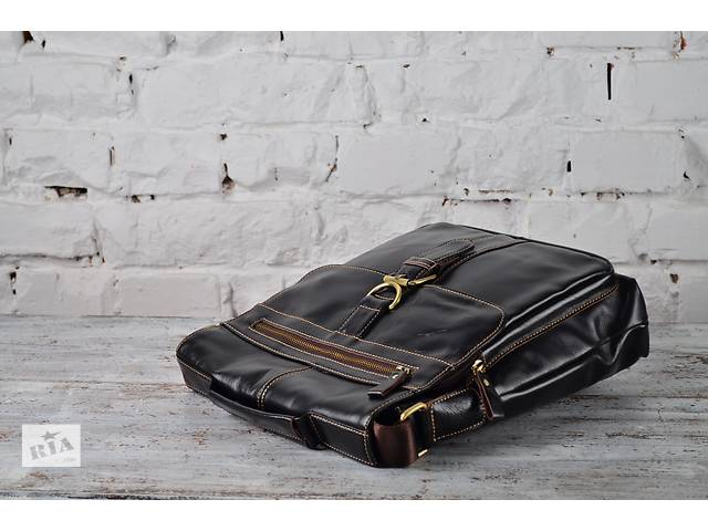 продам Мужская деловая сумка-мессенджер в черном цвете.Ручная работа! бу в Киеве