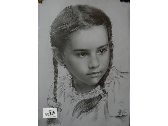 продам Портрет, нарисовать, на заказ, по фото, недорого, карандаш, Украина бу в Харькове