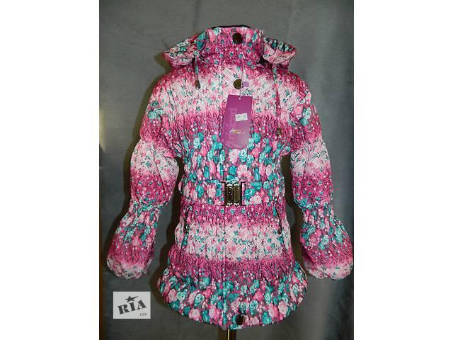 бу Последний размер - 110см Легкая Демисезонная Куртка на девочку с цветочным принтом. Распродажа в Броварах