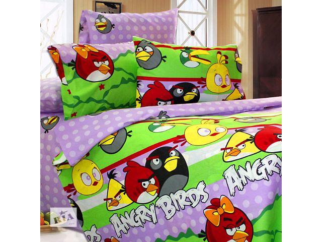 продам Постельное белье Angry Birds бязь 145х210 см бу в Киеве