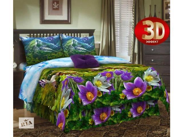 продам Полуторное 3Д постельное белье из бязи 100% хлопок бу в Киеве