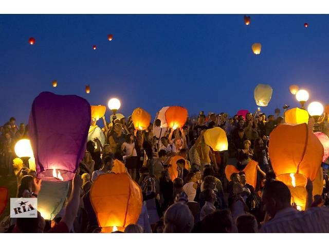 продам Повітряні ліхтарики, небесні ліхтарики, літаючі ліхтарі, китайські небесні ліхтарі, небесные фонарики желаний бу  в Украине