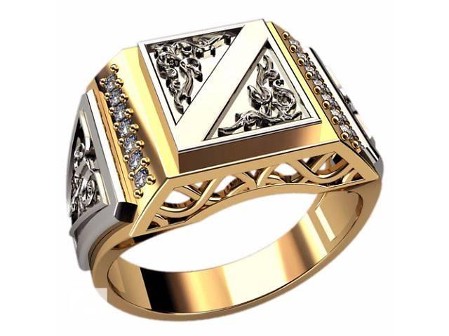 купить бу Представительский мужской золотой перстень, арт.30090 в Запорожье