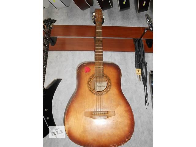 продам ( 1454 ) Прекрасная акустическая гитара и ее ВИдео Обзор львовской музыкальной фабрики бу в Чернигове
