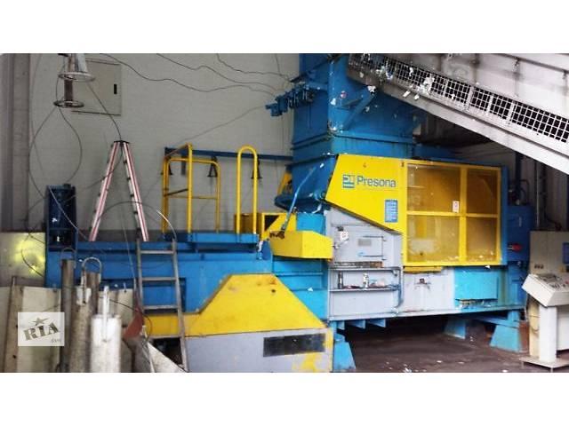 купить бу Пресс автоматический для вторсырья (макулатуры, ПЭТ) Presona, 40 тонн  в Украине